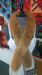 Alpaca Fur Skin Scarf, Light Brown