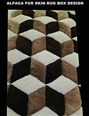 Alpaca Fur Skin Rug Standard Box Design