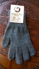 Adult size baby alpaca gloves dark grey
