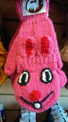Pink Fingerless Bunny Gloves