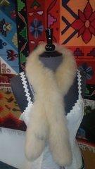 Alpaca Fur Skin Scarf, Champain