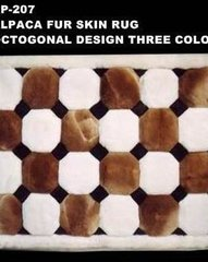 Alpaca fur skin rug standard Octagon design