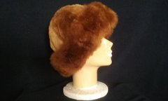 Alpaca Fur Skin Hat Brown