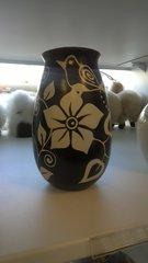Hand Crafted Ceramic Vase Floral Design