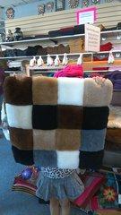 Fur skin Alpaca Pillow Sham, Checkered Design