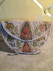 Antique Beaded Purse Belgium Wedding Accessory 1920's
