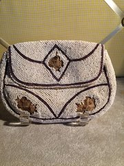 1920's Beaded Antique Purse Made in France