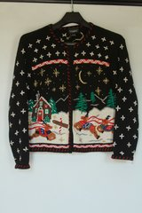 Vintage Ugly Tacky Christmas Sweater Reindeer at North Pole Size M Unisex
