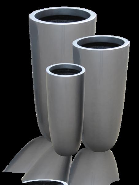 Fiberglass Flower Pots Amp Planters : Fiberglass planter tall column cylinder jay scotts