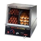 Hot Dog Steamer with Bun Warmer