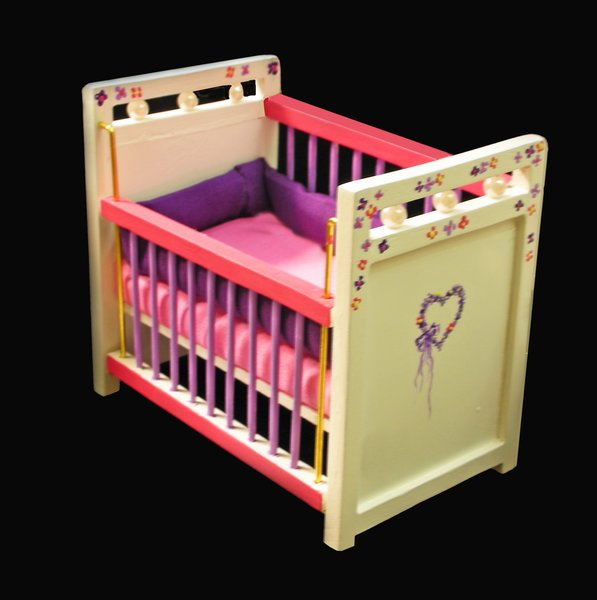 painted baby furniture. Hand Painted Baby Crib With Mattress And Bumper Pad Furniture
