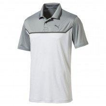 Puma Bonded Tech Golf Polo - Quarry Bright White