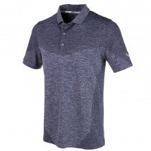Puma Evoknit Block Seamless Golf Polo Shirt - Peacoat