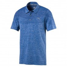 Puma Evoknit Seamless Golf Polo Shirt - Electric Blue Lemonade