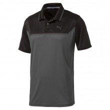 Puma Bonded Tech Golf Polo - Puma Black Quiet Shade