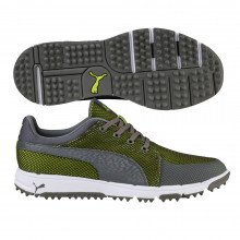 Puma Grip Sport Tech Golf Shoes - Quiet Shade Acid Lime