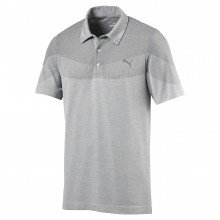 Puma Evoknit Seamless Golf Polo Shirt - Quarry