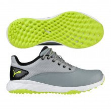 Puma Grip FUSION Golf Shoes - Quarry Acid Lime Puma Black