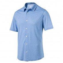 Puma Knit Golf Shirt - Electric Blue Lemonade