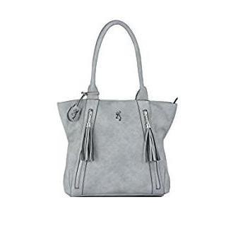Alexandria Browning Handbag Concealed Purse Grey