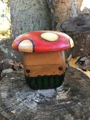 Amanita mushroom wood box