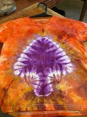 Kids LARGE Tie-Dye Mushroom Tee