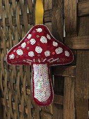 Fly Agaric Fabric Mushroom Prnament