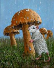 Umbrella Mushroom Postcard