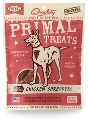 Primal Treats - Chicken Shredders Dry Roasted Jerky for Dogs