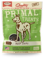 Primal Treats - Beef Chips Jerky for Dogs
