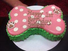 Woof Gang Custom Made Large Bone Shape Doggie Cake