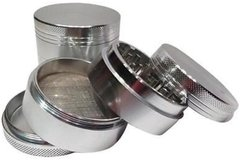 40mm 4 PIECE HERB CRUSHER (Chrome)