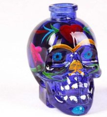 GLASS SKULL WATER PIPE(HOOKA) BLUE