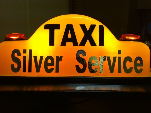 Custom Vinyl Cut Self Adhesive Signs For Taxi Dome Or Door - Custom vinyl adhesive signs