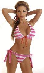Pink and white Sailor Stripped Bikini
