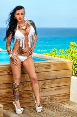 White Fringe Bikini