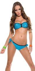 Rhinestone blue PushUp Bikini