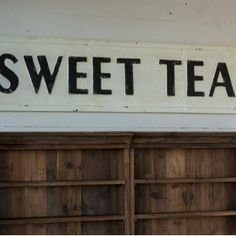 Vintage Sweet Tea Sign