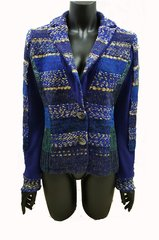 French Dark Blue knitted Jacket