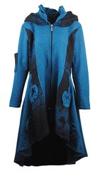 Italian Turquoise Blue Wool coat