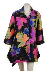 Multi colour Leaf coat