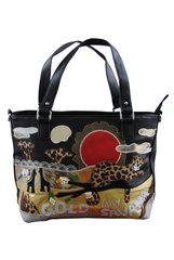 Safari scene handbag