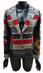 Knitted French Paisley Print Jacket