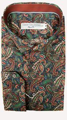 Farsim Green Paisley Shirt