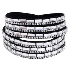 Black/Silver Wrap Bracelet