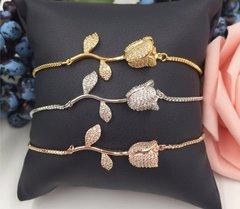 Cubic Zirconia Rose Bracelet