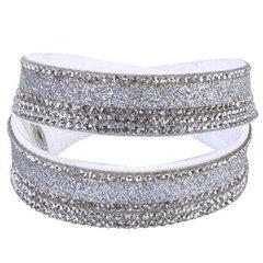 White & Silver Wrap Bracelet