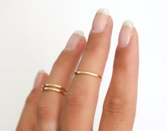 5pc Simple Midi Rings