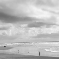 Figures on Cannon Beach