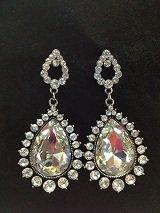 Crystal Dangle Tear Drop Style Earrings
